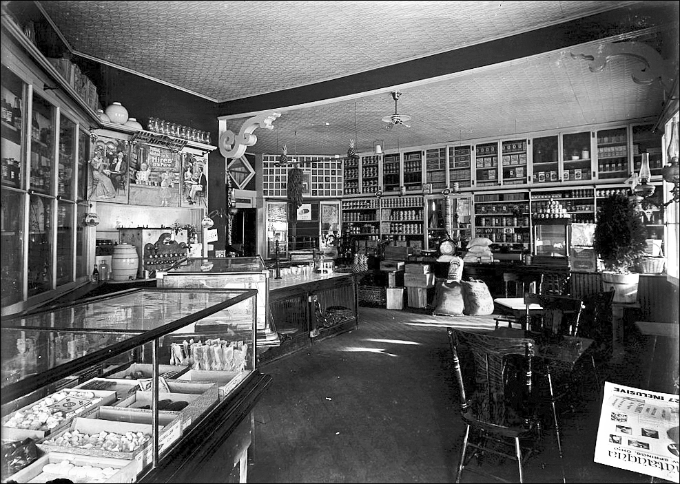 Ridgway Pharmacy, from the glass-plate Kahoe collection