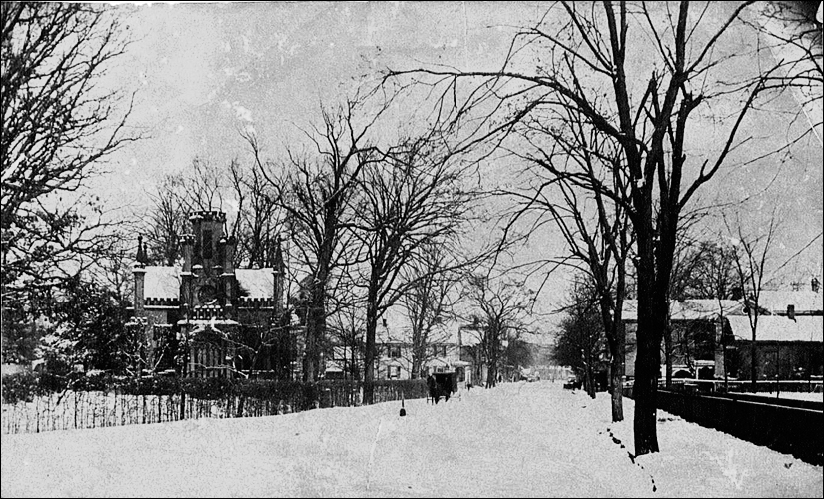 view of Xenia Ave. in 1890