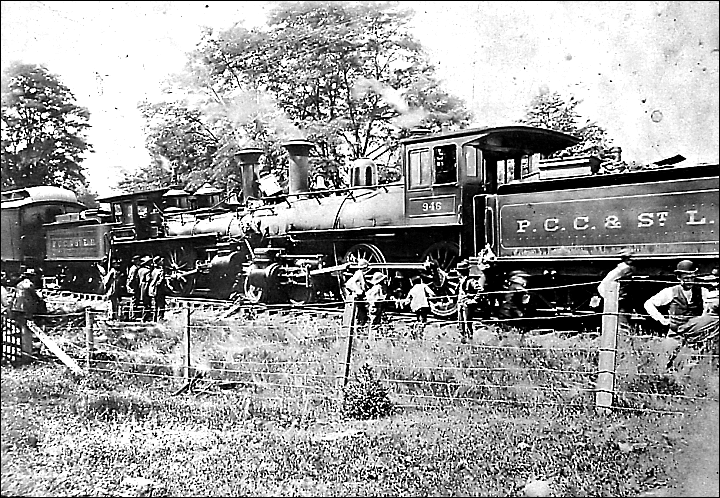 Train travel was not without its hazard...(Photo courtesy of Antiochiana)