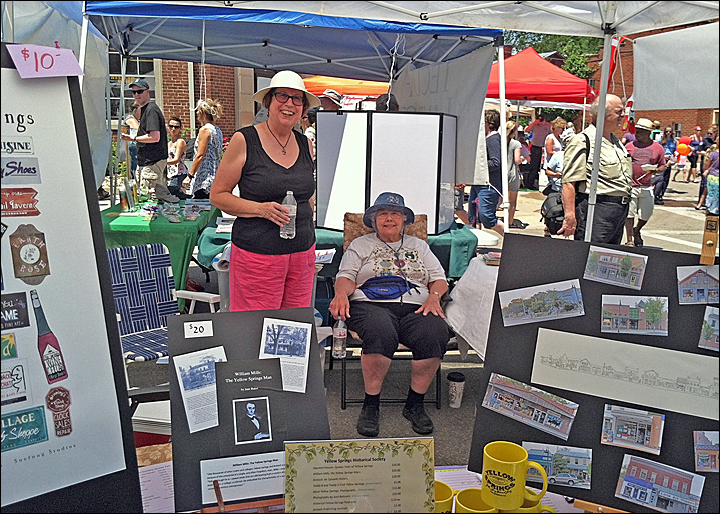 Street Fair - Chris Zurbuchen and Peggy Erskine (photo provided by Jean Payne)
